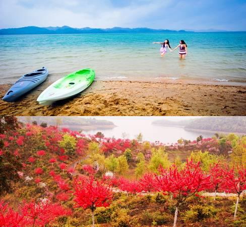 半岛餐厅是中信庐山西海国际生态旅游度假区第一个投入使用的项目