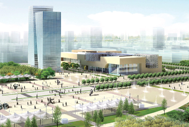 城市规划展示馆、会展中心及商务酒店效果图
