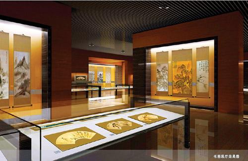 书画展厅效果图. 市博物馆提供图片