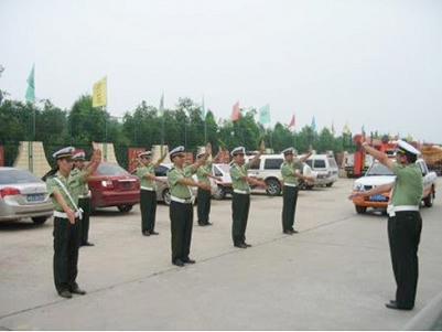队开展交通指挥手势及军体训练