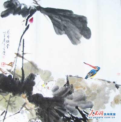 滨城滨北办凤凰社区举办书画笔会图片