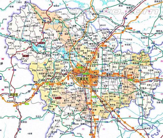 【石家庄地图|石家庄旅游地图|石家庄旅游图】高清图片