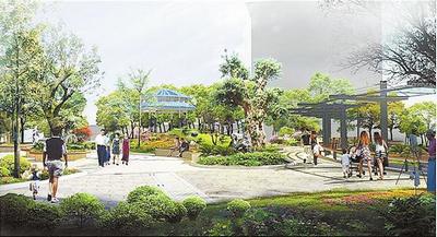 生态休闲廊架,此外还通过设置景观置石