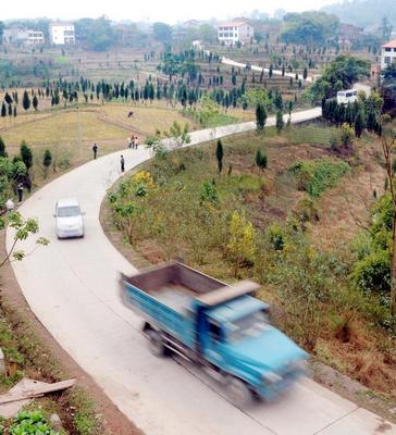 村庄道路平面图怎么画