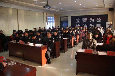陕西省神木县交警大队举行2011年春运交通安全工作启动仪式